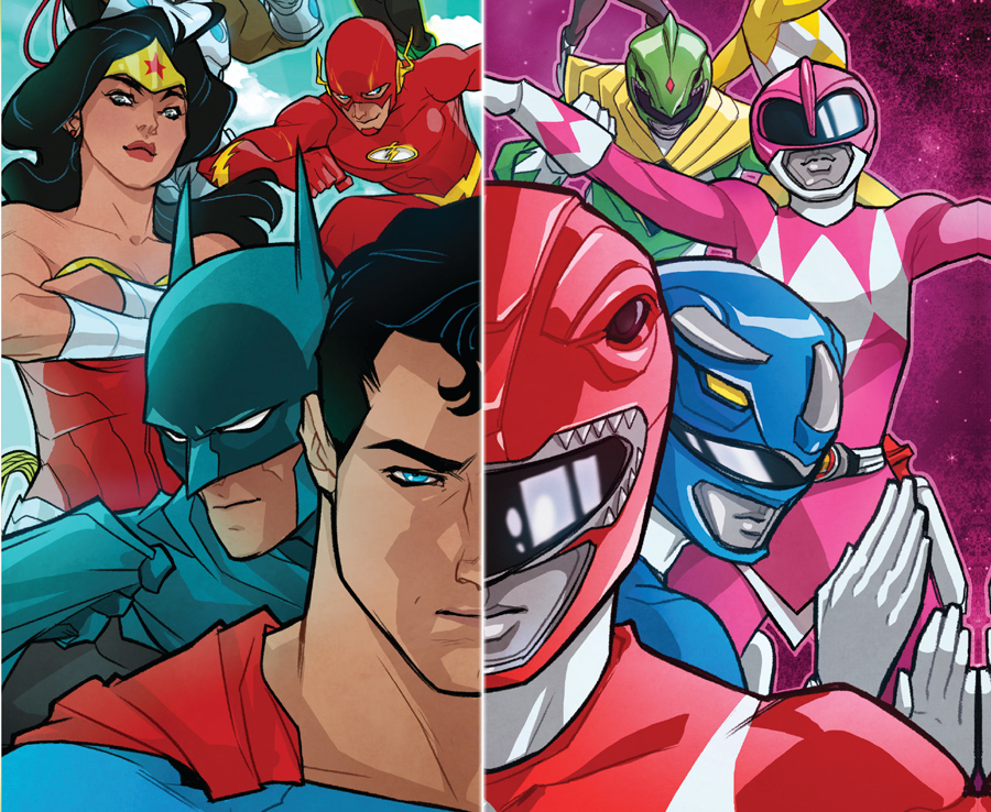 Justice League/Power Rangers Cover