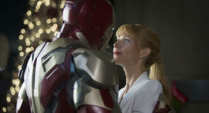 Still of Robert Downey Jr. and Gwyneth Paltrow in Iron Man 3