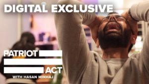 Title card for YouTube Digital Exclusive for Patriot Act with Hasan Minhaj