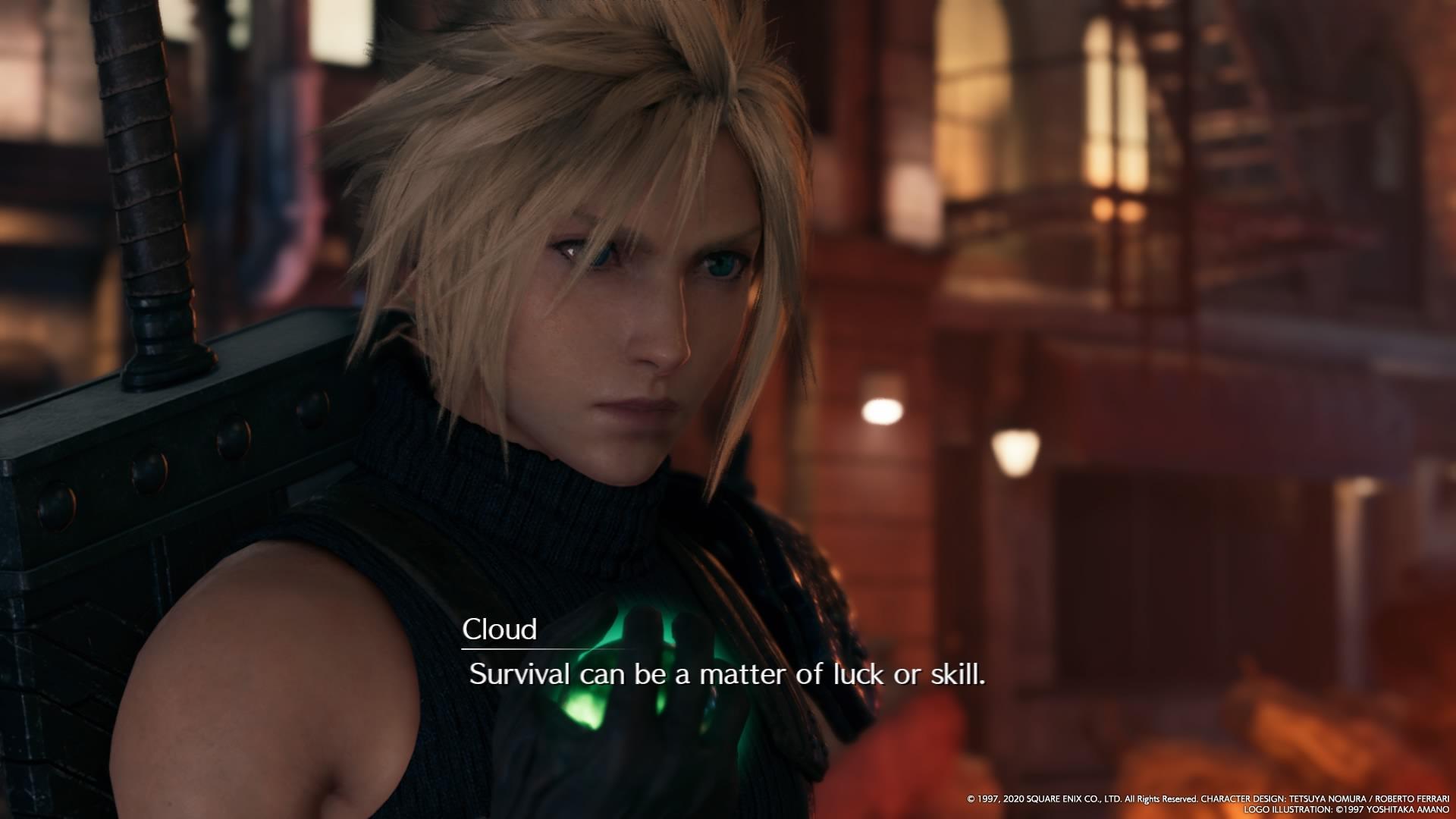 FF7 Remake Cloud