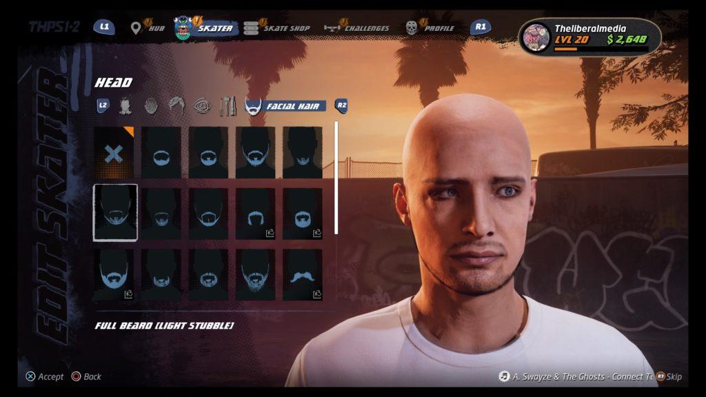 Tony Hawk's™ Pro Skater™ 1 + 2 Create a Player
