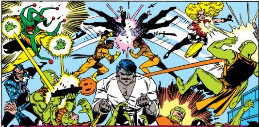 Suicide Squad #30, where Ravan is preparing to strangle someone