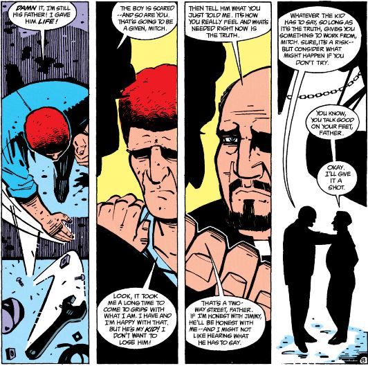 Mitch and Father Craemer talk in suicide squad #31