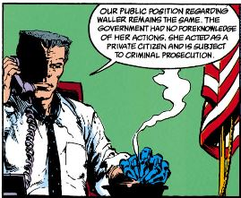 Sarge Steel on the phone in Suicide Squad #39