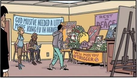 Six Sidekicks of Trigger Keaton funeral